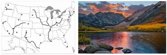 United States Rivers, Mountains, and Lakes